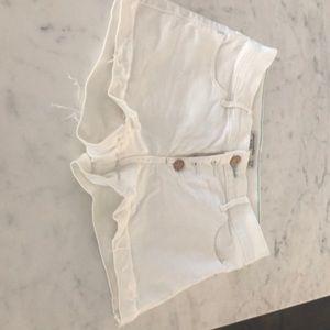 Abercrombie kids shorts white denim